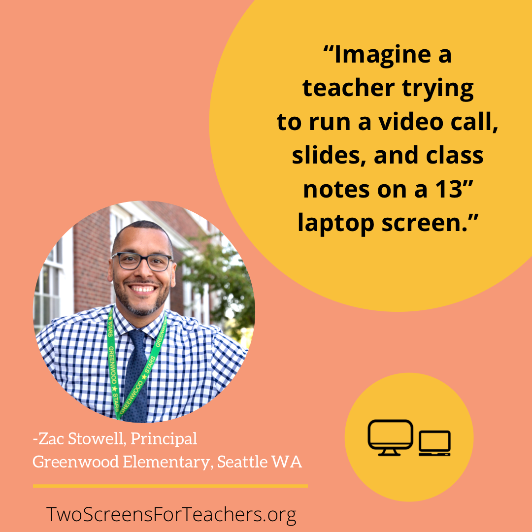 Teachers deserve two screens, and Two Screens for Teachers aims to get them just that 2